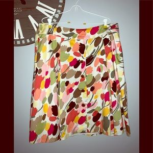 Talbots floral a line skirt size 16